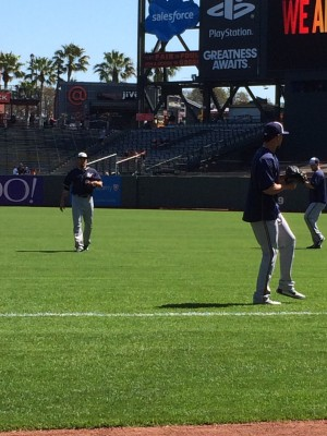 Matt Garza and Kyle Lohse (bomb) playing a little pitch and catch.
