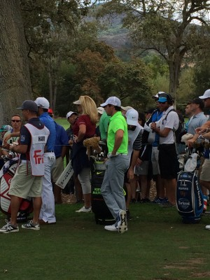 Rory on 11 waiting to tee off.