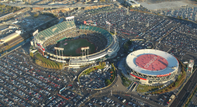To put into perspective...Oracle Arena and O.co Coliseum are neighbors that share parking lots.